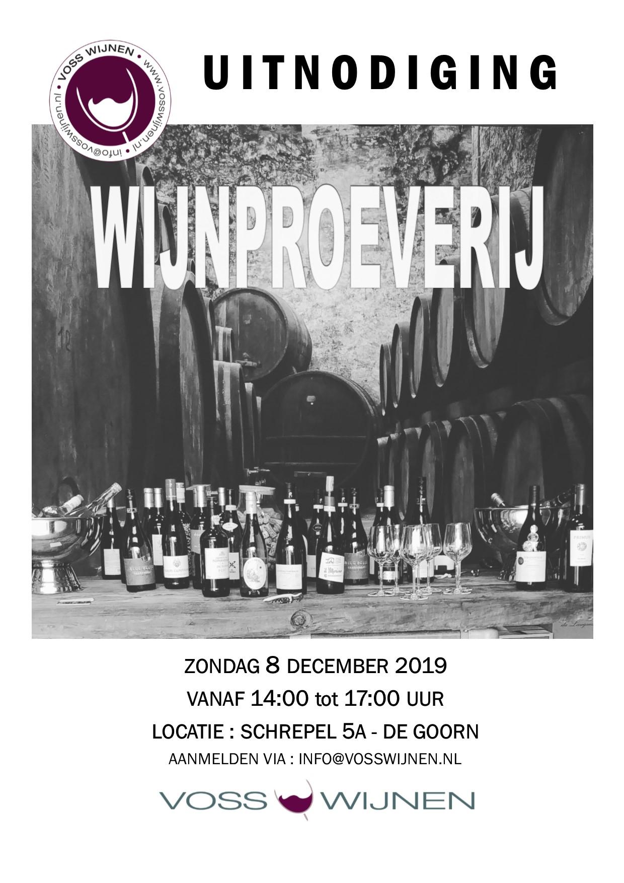 Wijnproeverij 8 December 2019