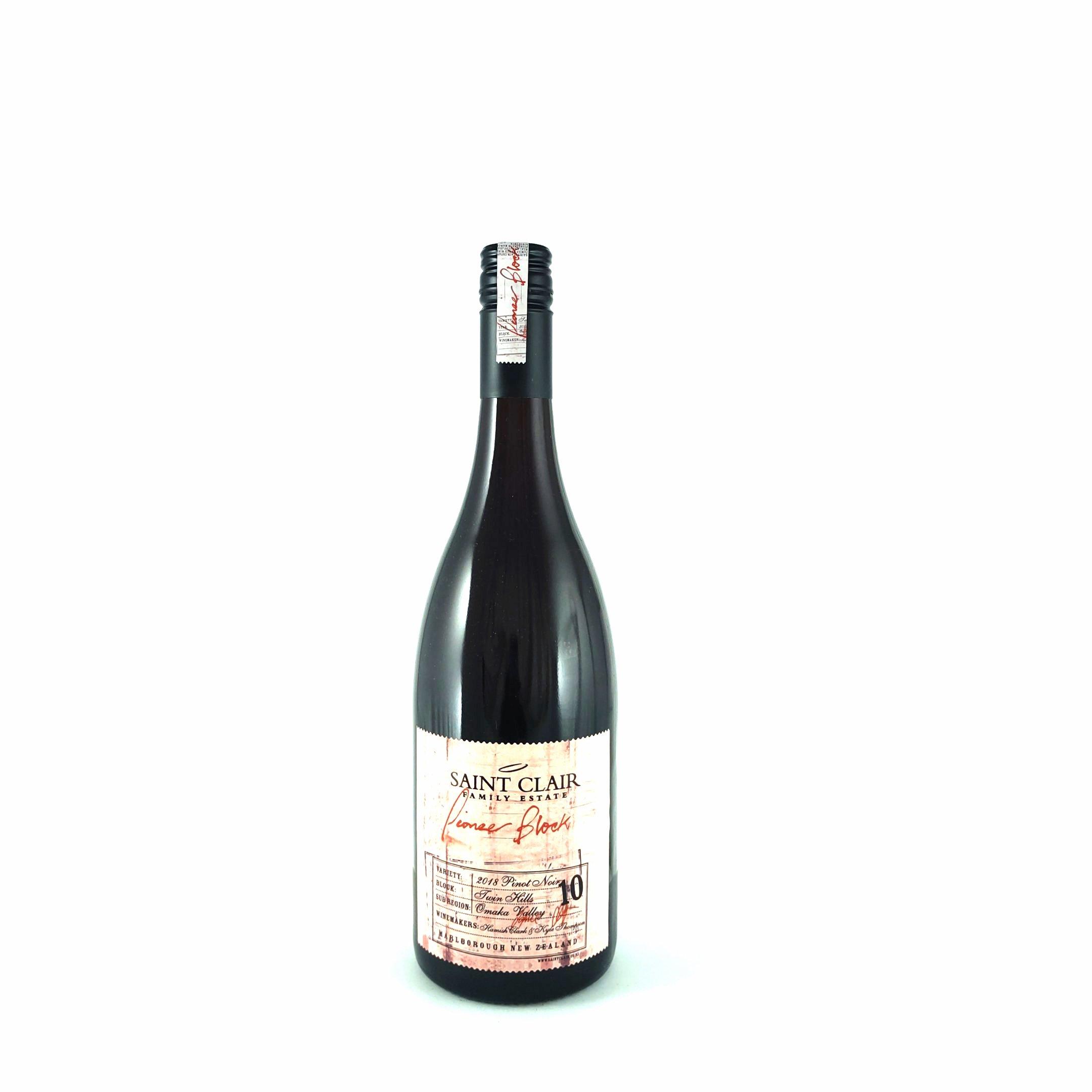 Saint Clair – Block 10 Pinot Noir 2018